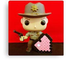 Rick Grimes Valentines Canvas Print