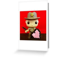 Rick Grimes Valentines Greeting Card
