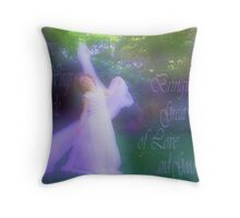 On the Wings of an Angle Throw Pillow