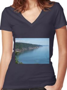 Fundy Coast Women's Fitted V-Neck T-Shirt