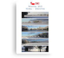 Winter in Drenthe Canvas Print