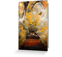 The Pathway To Autumn Greeting Card