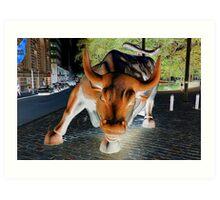 charging bull Art Print