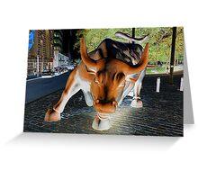 charging bull Greeting Card
