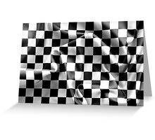 Chequered Flag Greeting Card