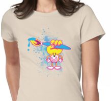 Happy Art Friends Womens Fitted T-Shirt
