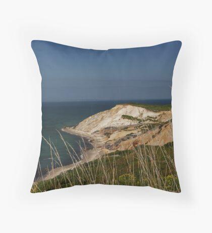 Cliffs of Martha's Vineyard Throw Pillow