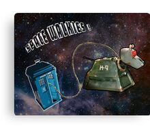 Space Walkies! Canvas Print
