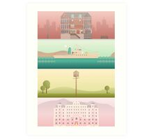 A 'Wes Anderson' Collection Poster Print Art Print