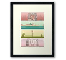 A 'Wes Anderson' Collection Poster Print Framed Print