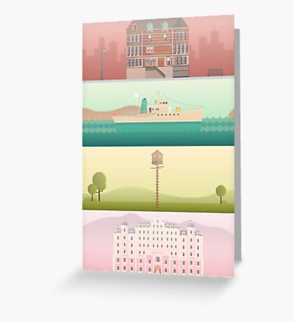 A 'Wes Anderson' Collection Poster Print Greeting Card