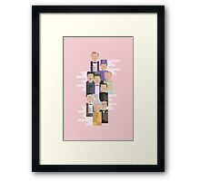 The Grand Budapest Hotel: Character Print Framed Print