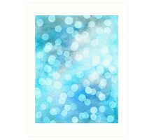 Turquoise Snowstorm - Abstract Watercolor Dots Art Print