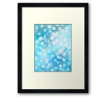 Turquoise Snowstorm - Abstract Watercolor Dots Framed Print