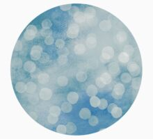 Turquoise Snowstorm - Abstract Watercolor Dots Kids Clothes