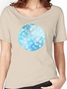 Turquoise Snowstorm - Abstract Watercolor Dots Women's Relaxed Fit T-Shirt