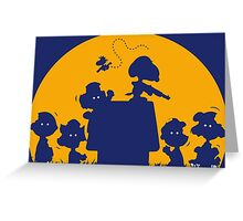 Peanuts Zombie Greeting Card