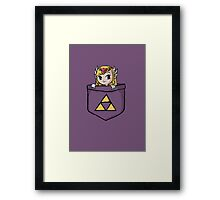 Pocket Zelda Framed Print