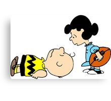 Charlie Brown & Lucy Canvas Print