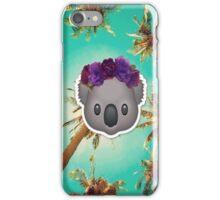 Koala in a Flower Crown Emoji Design iPhone Case/Skin