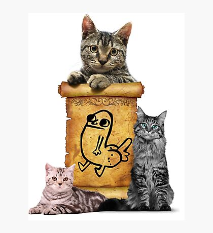 Dickbutt and catz Photographic Print