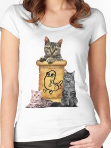 Dickbutt and catz Women's Fitted Scoop T-Shirt