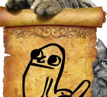 Dickbutt and catz Sticker
