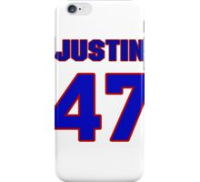 National football player Justin Rowland jersey 47 iPhone Case/Skin