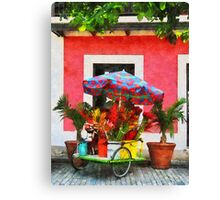 Flower Cart San Juan, Puerto Rico Canvas Print