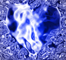 Blue Heart of Ocean Sticker
