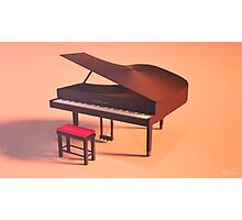 Piano Lowpoly Photographic Print