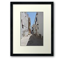tunisia street of the old Framed Print
