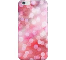 Strawberry Sunday - Pink Abstract Watercolor Dots iPhone Case/Skin