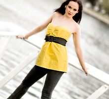 Anne Duffy Fashion Shoot Yellow Top by Tony Lin