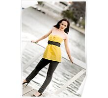 Anne Duffy Fashion Shoot Yellow Top Poster