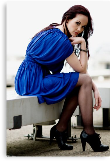 Anne Duffy Fashion Shoot Other Blue Dress by Tony Lin