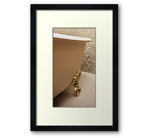 bath in a classic style Framed Print
