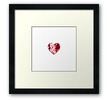 Rose Rubin Heart Framed Print