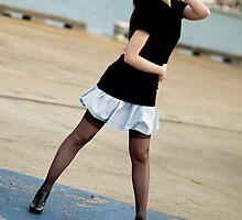 Anne Duffy Fashion Shoot Aqua Skirt by Tony Lin