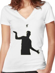 Daniel Sturridge (Black) Women's Fitted V-Neck T-Shirt