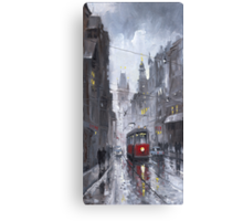 Prague Old Tram 03 Canvas Print