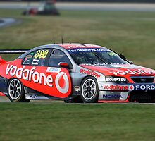 Jamie Whincup in his 888 Vodafone V8, BF Ford by Barrie Collins