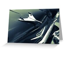1955 Chevy BelAir in Black and White Greeting Card