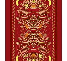 Card Back 3 - Hylian Court Legend of Zelda by sorenkalla