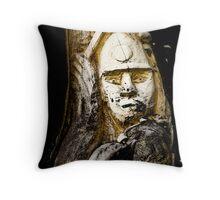 The Coal Miner Throw Pillow