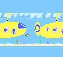 Under the sea in a yellow submarine by Beth BRIGHTMAN