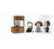 Batman Peanuts Poster