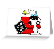 Snoopy Breaking Bad Greeting Card