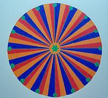 African Mandala by Helene Krog