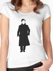 Sherlock Holmes Silhouette Women's Fitted Scoop T-Shirt